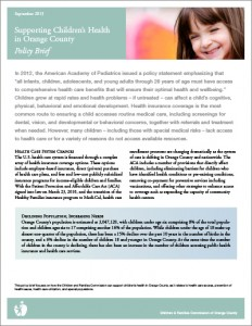 Children's Health Policy Brief