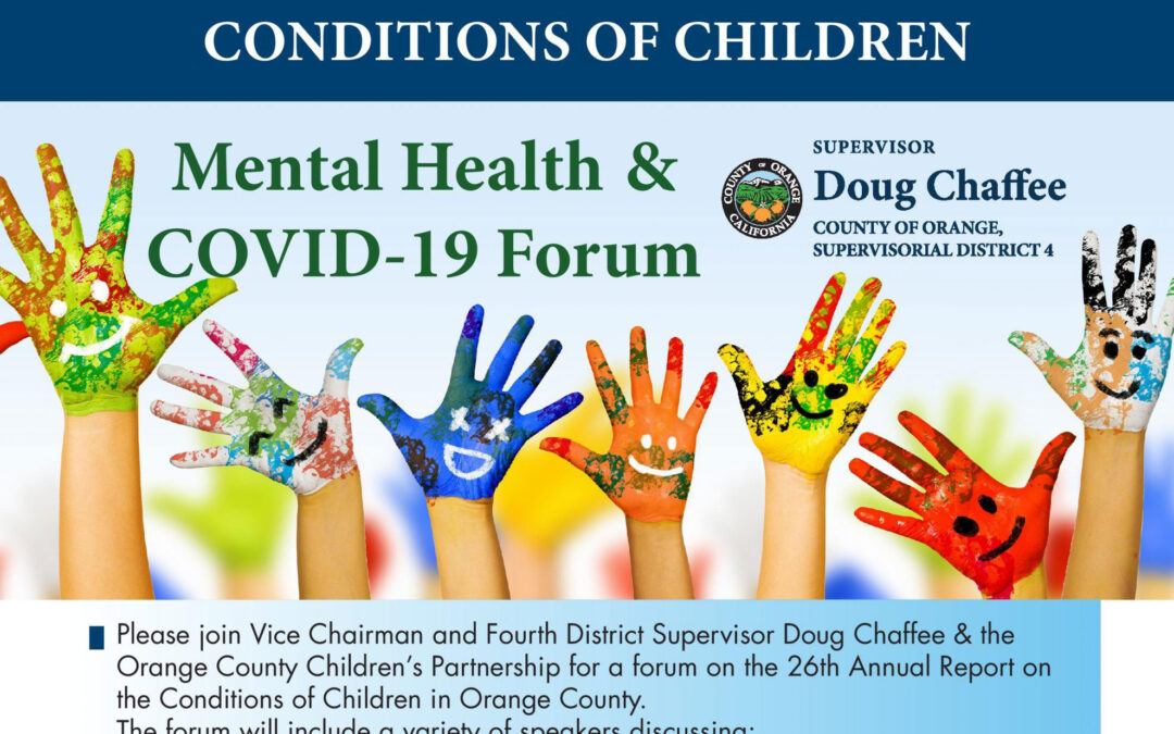 Forum on March 30 to discuss effects of pandemic on Orange County children's mental health