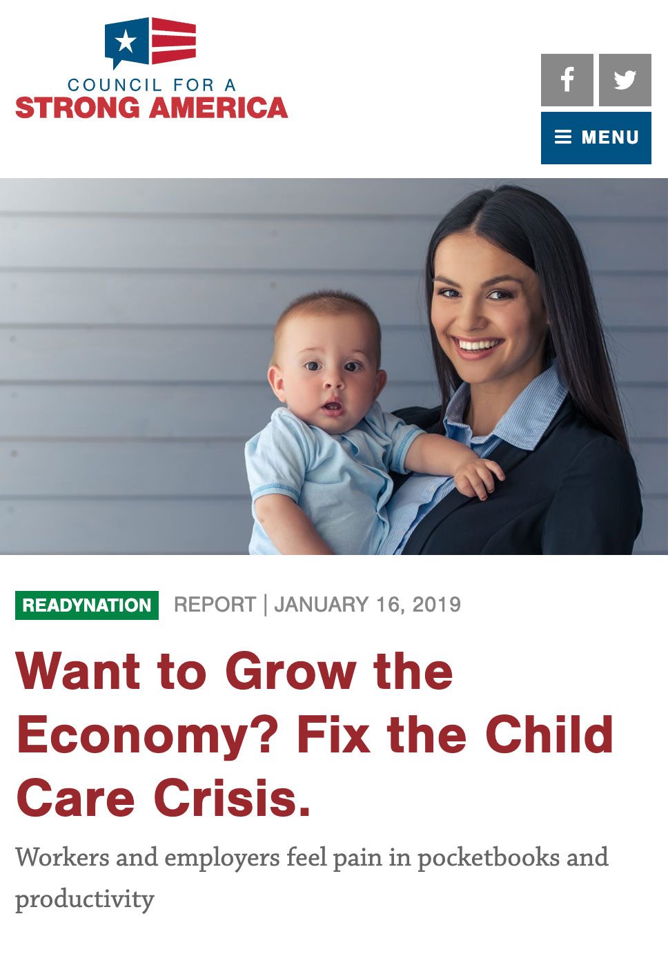 Want to Grow the Economy? Fix the Child Care Crisis.