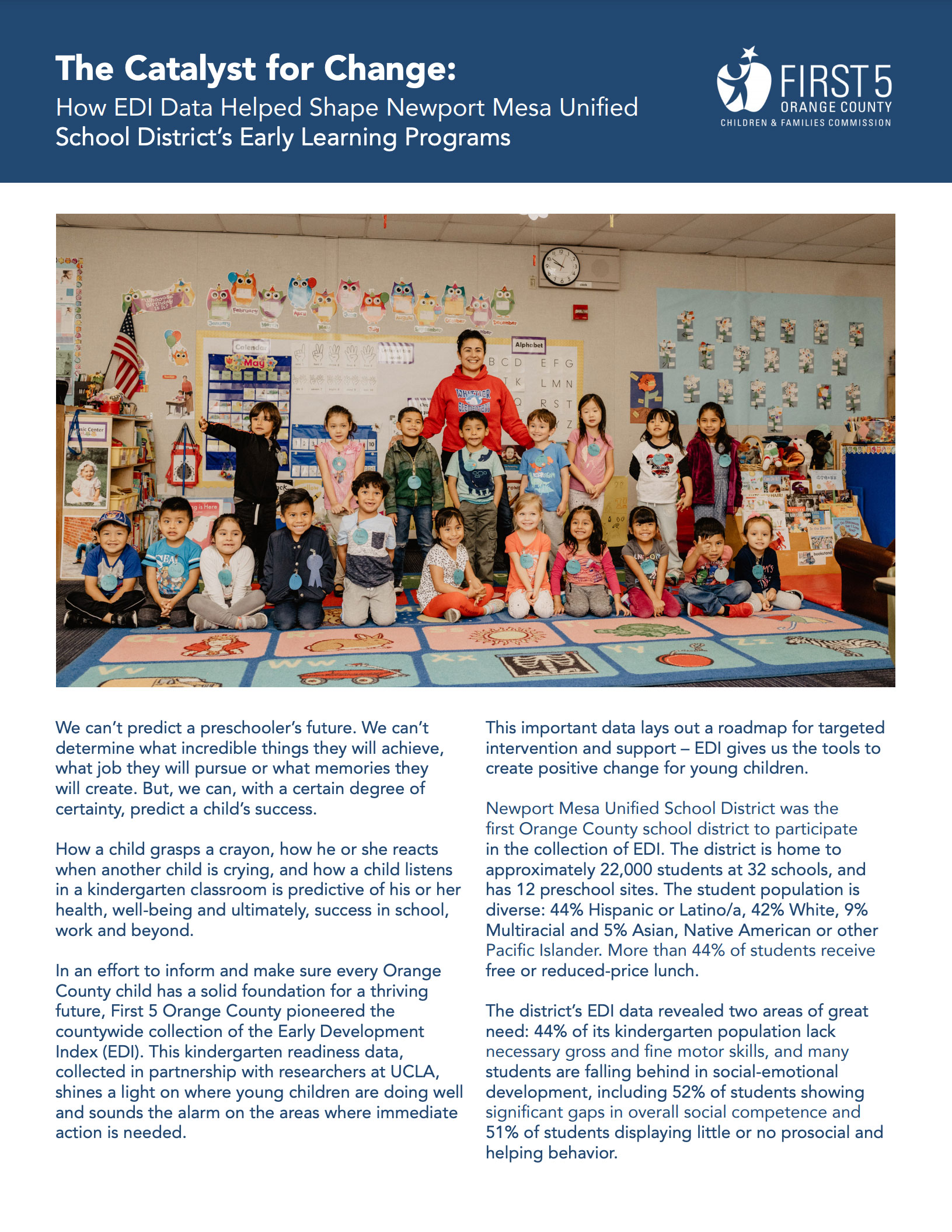 The Catalyst for Change: How EDI data helped Newport Mesa Unified School District