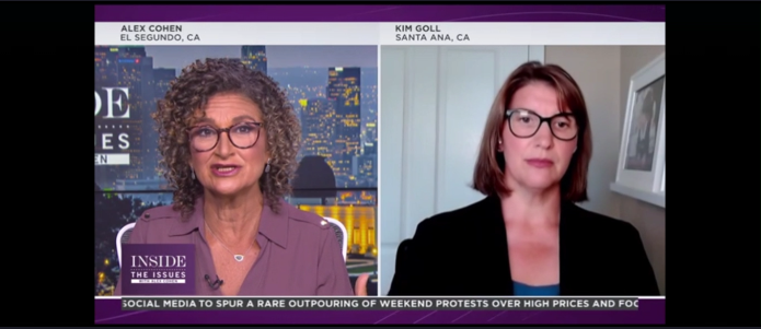 """First 5 OC President/CEO Kim Goll featured on Spectrum News 1's """"Inside the Issues"""" program"""