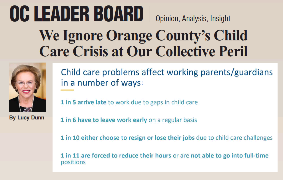 OC Business Council's Lucy Dunn pens op-ed in Orange County Business Journal on child care crisis